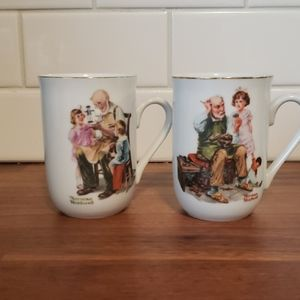 💙5 for $16-Norman Rockwell mugs, toy maker &…